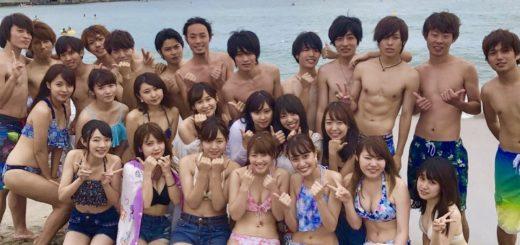 【画像】ヤリサーの海集合写真wwwwwwww